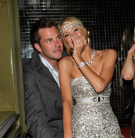 Doug Reinhardt and Paris Hilton in their private booth at Body English