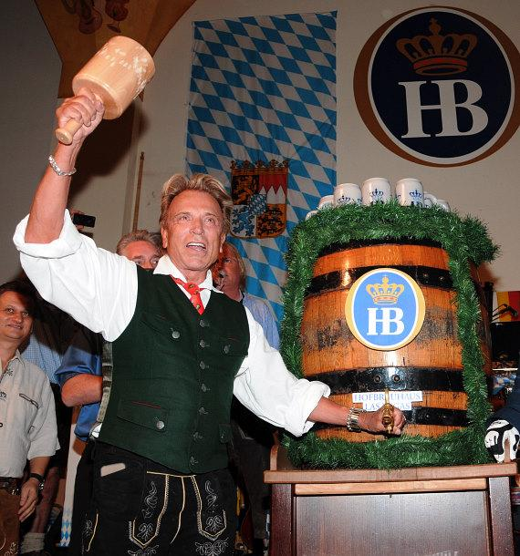 Siegfried & Roy celebrate Oktoberfest at Hofbrauhaus in Las Vegas