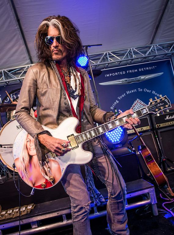 Joe Perry performs at The John Varvatos 10th Annual Stuart House Benefit