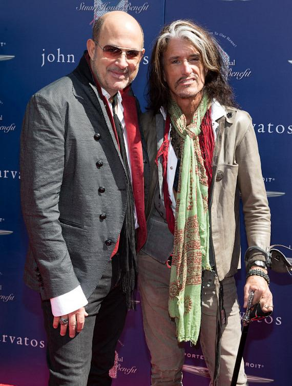 John  Varvatos and Joe Perry
