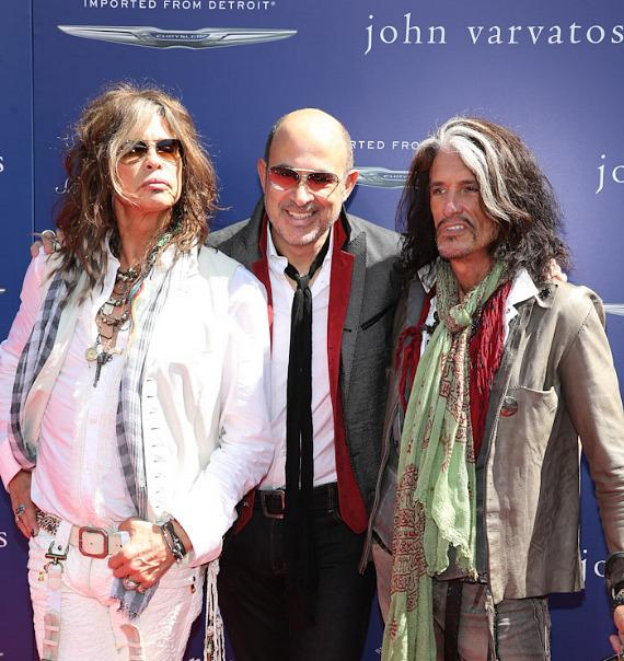 Steven Tyler, John Varvatos and Joe Perry
