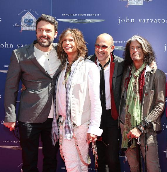 Ben Affleck, Steven Tyler, John Varvatos and Joe Perry