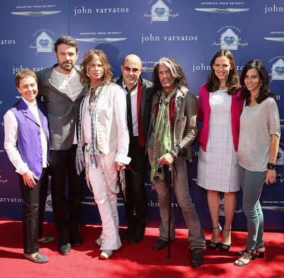 Gail Abarbanel, Ben Affleck, Steven Tyler, John Varvatos, Joe Perry, Jennifer Garner and Joyce Varvatos