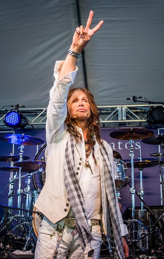 Steven Tyler performs at The John Varvatos 10th Annual Stuart House Benefit