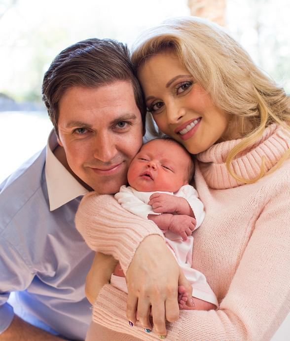 Pasquale Rotella and Holly Madison with their daughter Rainbow