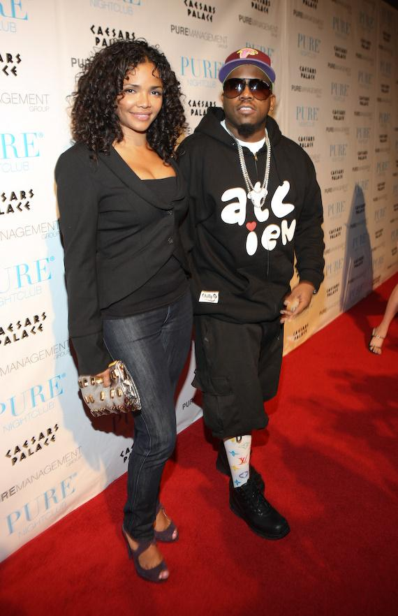 Big Boi and wife Sherlita Patton at PURE Nightclub in Las Vegas