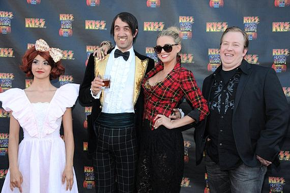 Absinthe stars Penny Pibbets, The Gazillionaire, Angel Porrino and Paul Matthew Lopez at KISS by Monster Mini Golf Grand Opening in Las Vegas