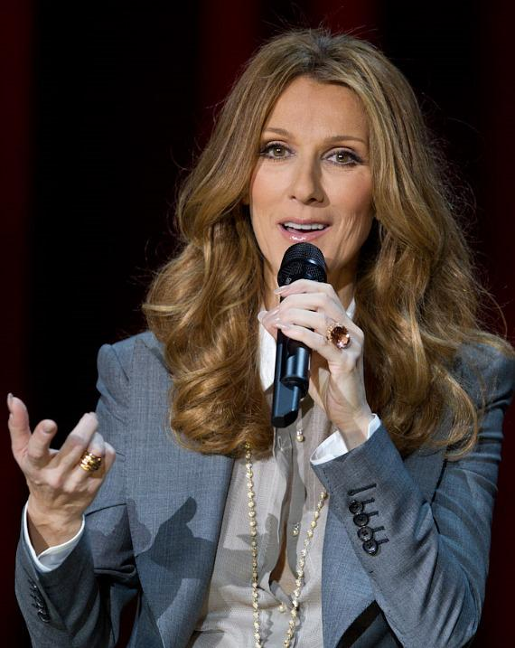 Celine Dion at press conference