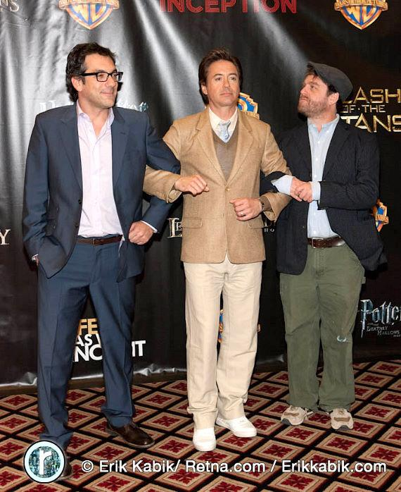 Todd Phillips, Robert Downey Jr. and Zach Galifianakis