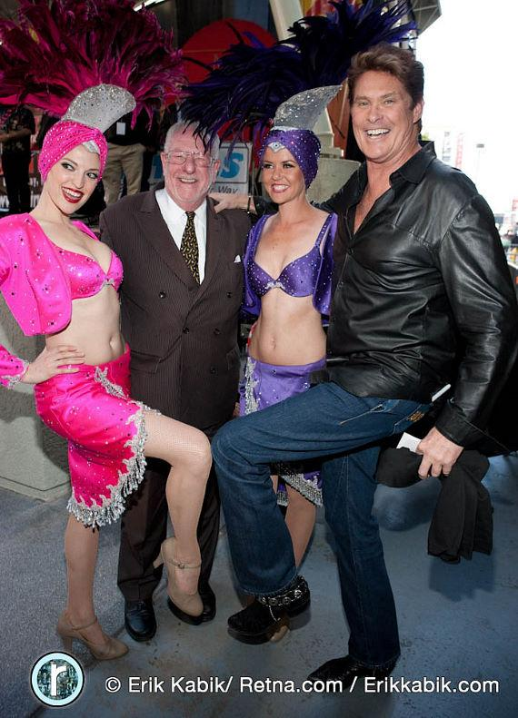 The Mayor, David Hasselhoff with showgirls