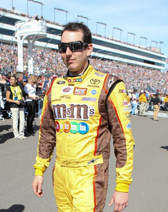 Kyle Busch prior to the race. He went on to win the race.