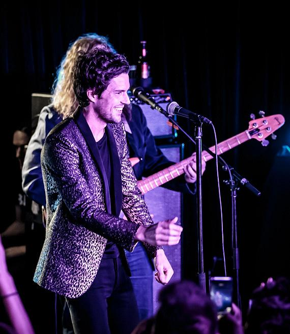 Brandon Flowers performs at The Bunkhouse Saloon in Las Vegas