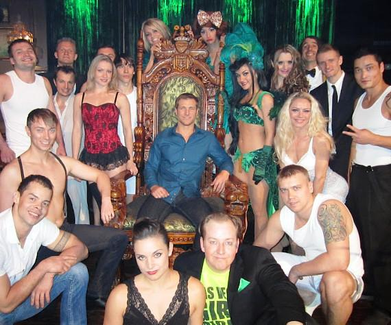 The Bachelor's Jake Pavelka with cast members of Absinthe