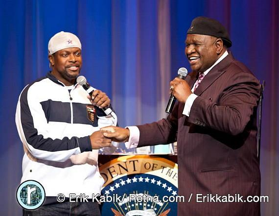 Chris Tucker and George Wallace at The Flamingo