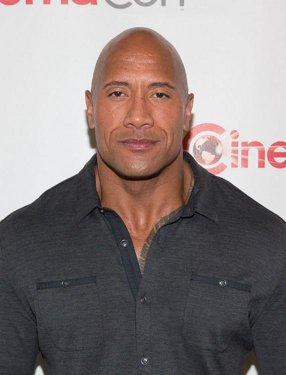 "Dwayne ""The Rock"" Johnson at CinemaCon 2014 at The Colosseum of Caesars Palace in Las Vegas"