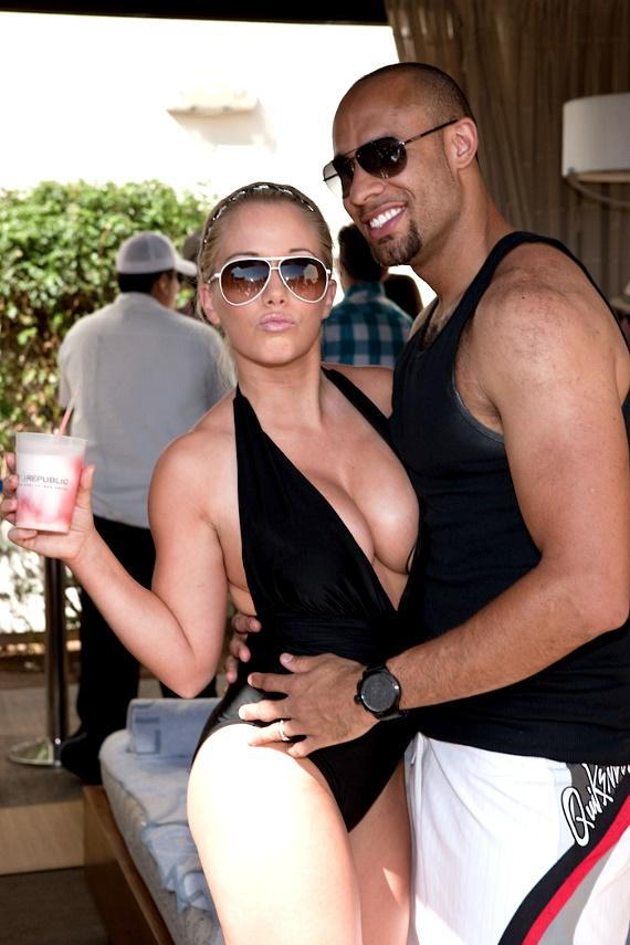 Kendra Baskett and Hank Baskett at WET REPUBLIC
