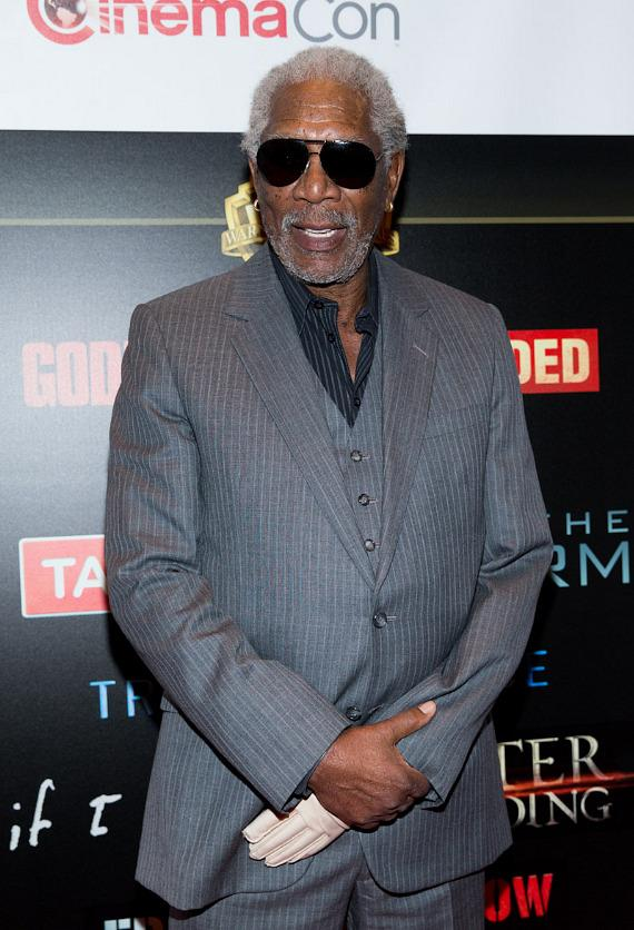 Morgan Freeman at CinemaCon 2014