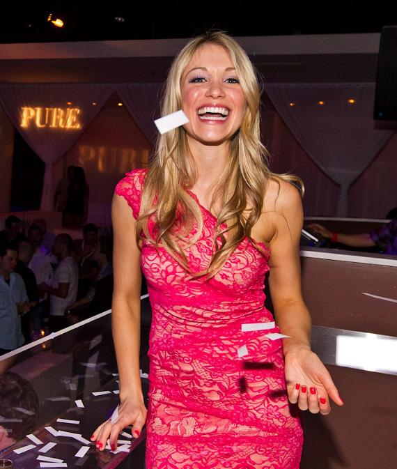 Katrina Bowden hosts at PURE Nightclub in Las Vegas