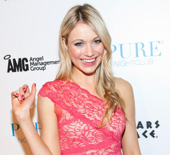 Katrina Bowden on the red carpet at PURE Nightclub in Las Vegas