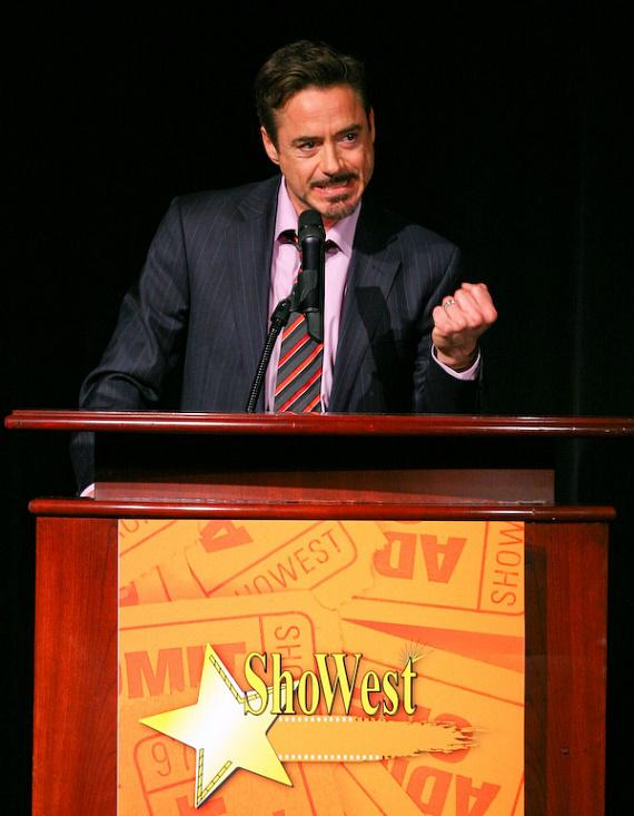 Robert Downey, Jr. at ShoWest 2009 at Paris Hotel in Las Vegas