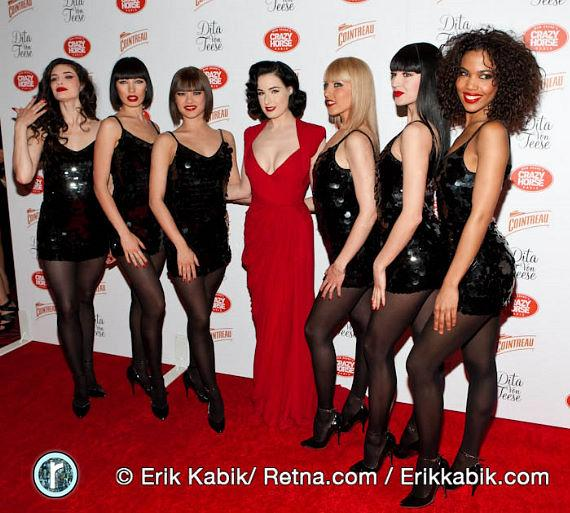 Burlesque Queen Dita Von Teese with Crazy Horse Paris cast members