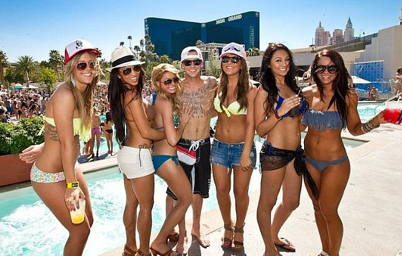 Ryan Sheckler hosts Spring Break Pool Party at WET REPUBLIC in Las Vegas