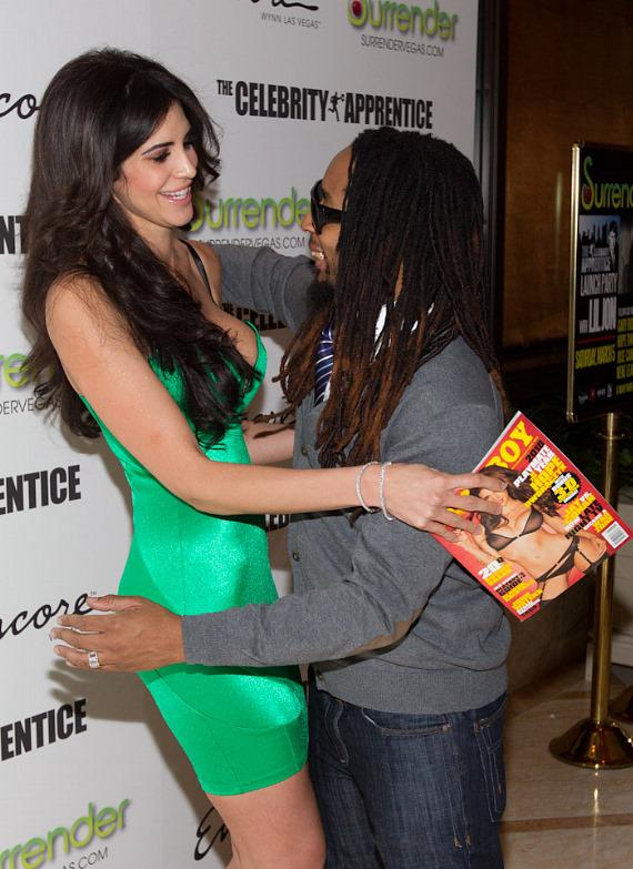 2010 Playmate of the Year Hope Dworaczyk with Lil Jon at Surrender Nightclub