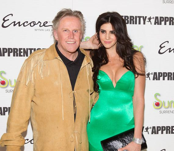 Gary Busey with  2010 Playmate of the Year Hope Dworaczyk at Surrender Nightclub