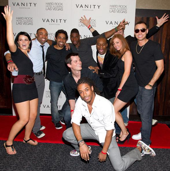 Cast members of MTVs The Real World: Las Vegas at Vanity Nightclub