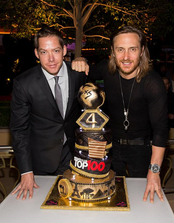 Jesse Waits with David Guetta at XS Nightclub 4 year anniversary party