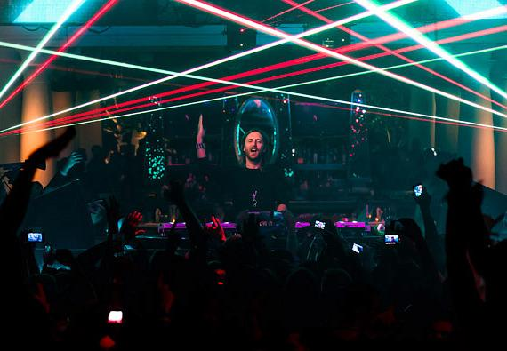 David Guetta performs at XS nightclub 4 year anniversary party