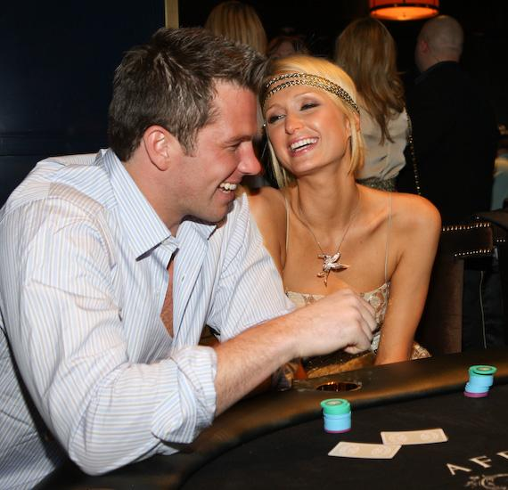 Doug Reinhardt and Paris Hilton at Hard Rock Hotel & Casino