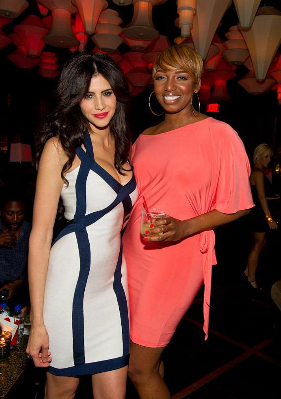 """Hope Dworaczyk and NeNe Leakes at """"The Celebrity Apprentice"""" Viewing Party at Blush"""