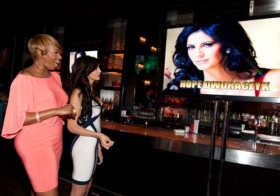 """NeNe Leakes and Hope Dworaczyk at """"The Celebrity Apprentice"""" Viewing Party at Blush"""