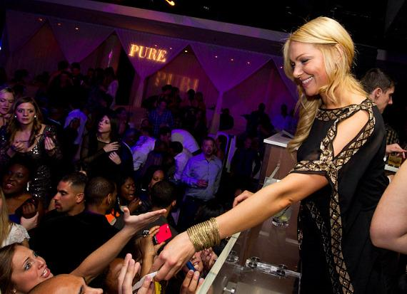 Laura Prepon signs autographs at PURE Nightclub