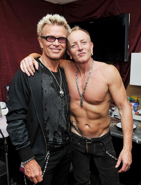 Billy Idol and Phil Collen