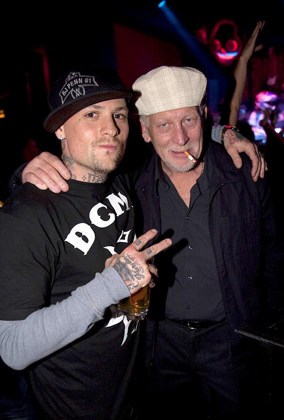 Benji Madden and his father at Wasted Space