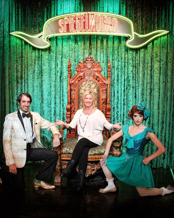 Olivia Newton-John with The Gazillionaire and Penny Pibbets at Absinthe