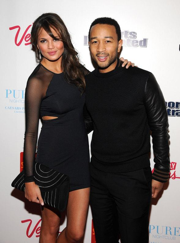Bruno Mars, Mario Lopez, Courtney Mazza, John Legend and SI Swimsuit Models at PURE Nightclub