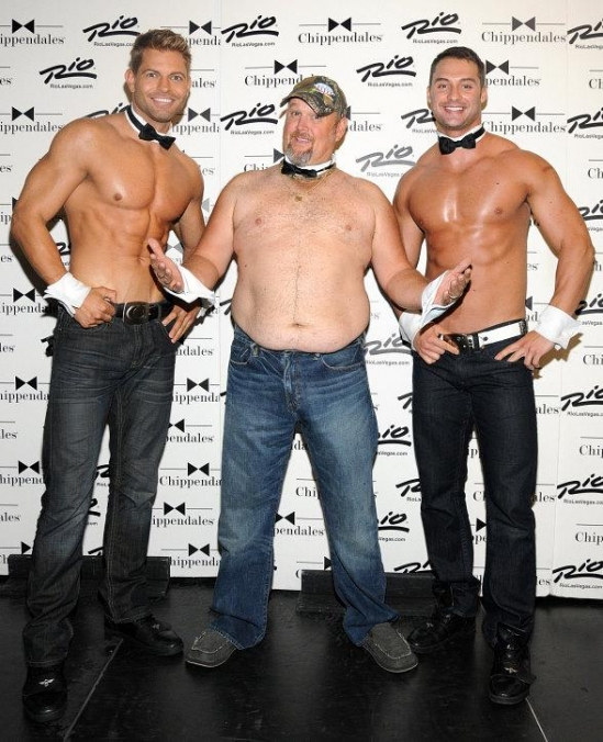 Larry The Cable Guy Visits Chippendales in The Rio in Las Vegas
