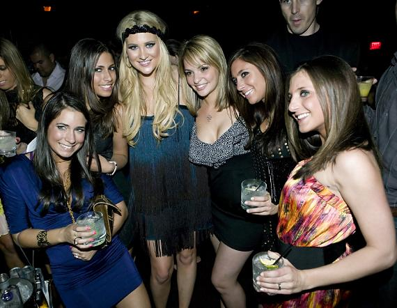 Stephanie Pratt and friends at Wasted Space