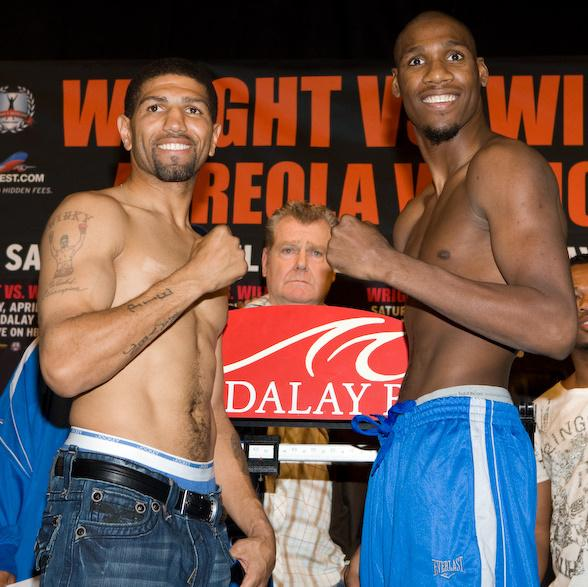 Winky Wright and Paul Williams weigh in at Mandalay Bay