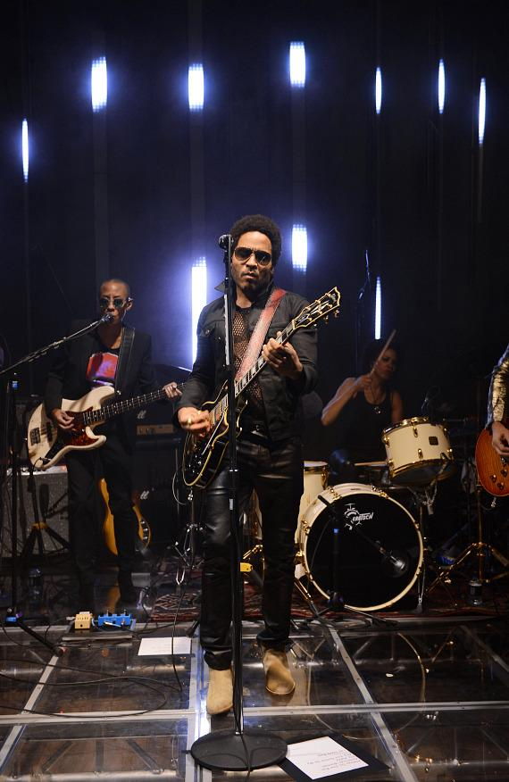 Recording artist Lenny Kravitz performs onstage during the SLS Las Vegas grand opening celebration on August 23, 2014 in Las Vegas