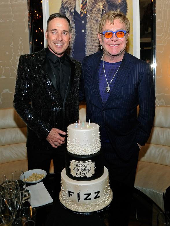 Elton John and David Furnish Cake Presentation