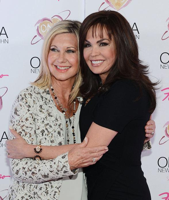 Olivia Newton-John and Marie Osmond at The Flamingo in Las Vegas