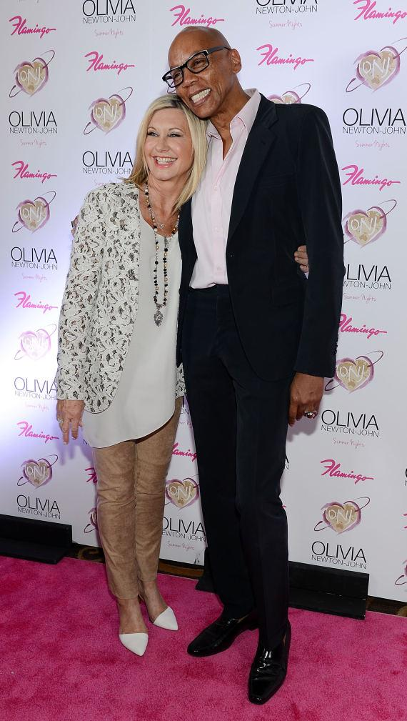 "Olivia Newton-John at RuPaul at opening of ""Summer Nights"" at The Flamingo in Las Vegas"