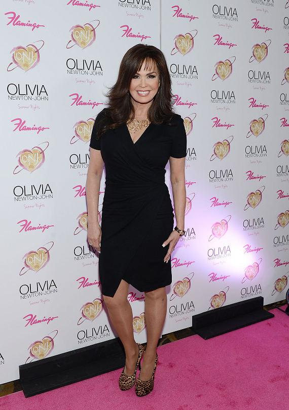 "Marie Osmond at opening of Olivia Newton-John's show ""Summer Nights"" at The Flamingo in Las Vegas"