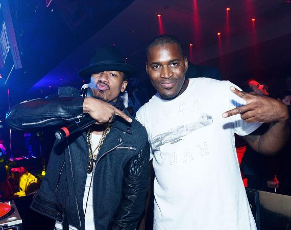 Nick Cannon and DJ Que attend 1OAK Nightclub at The Mirage in Las Vegas