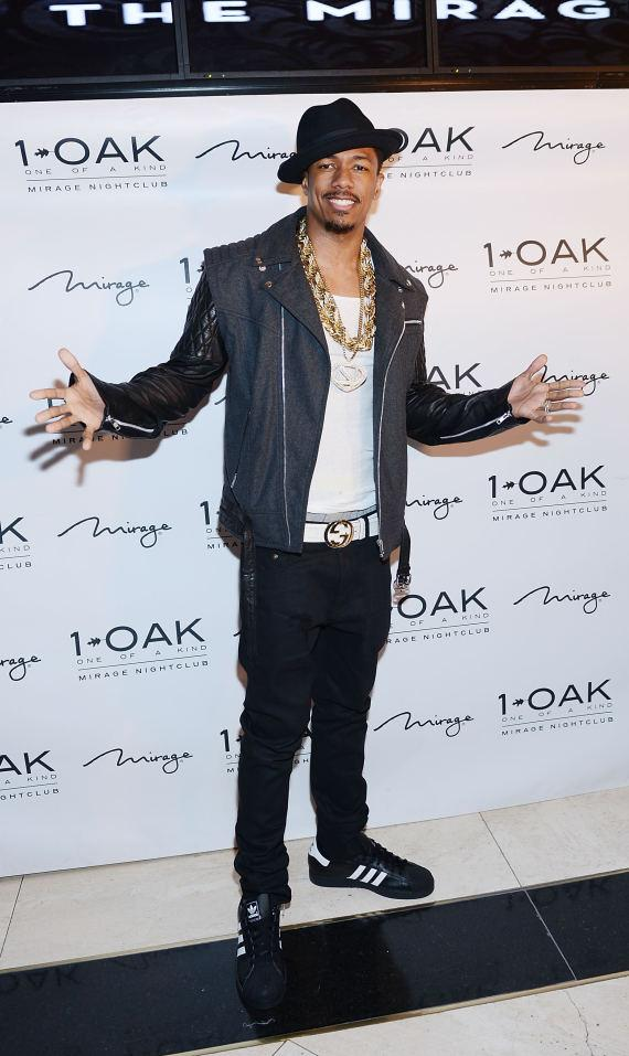 Nick Cannon arrives at 1OAK Nightclub at The Mirage in Las Vegas
