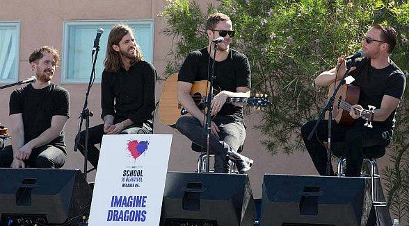 Imagine Dragons Perform at Three Schools chosen for